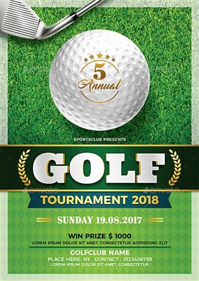 Golf tournament Flyer Template Word Inspirational Showcase Of the Best Sports Flyer Templates for Shop