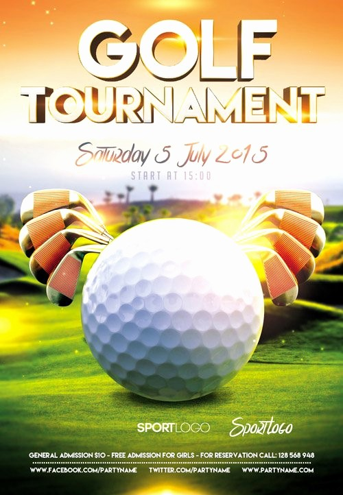 Golf tournament Flyer Template Word Lovely Flyer Psd Template – Golf tournament event Cover