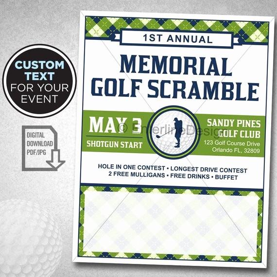 Golf tournament Flyer Template Word Lovely Golf tournament Flyer Poster Template Invitation Custom
