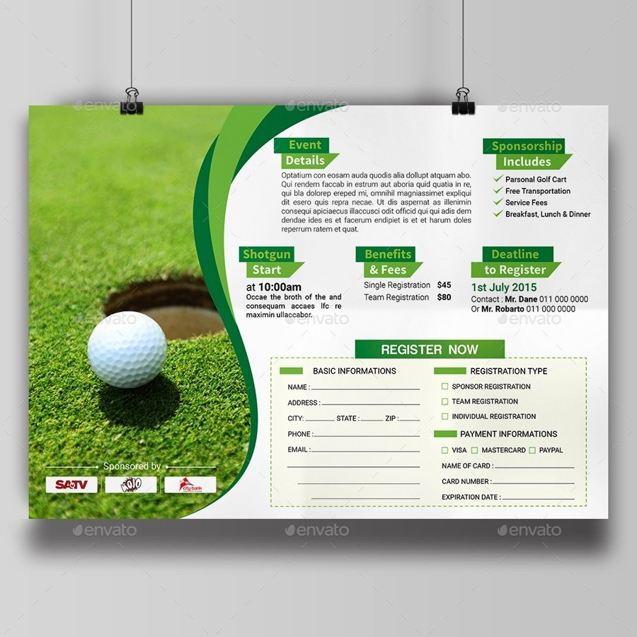 Golf tournament Flyer Template Word Lovely Golf tournament Flyer Template Beepmunk