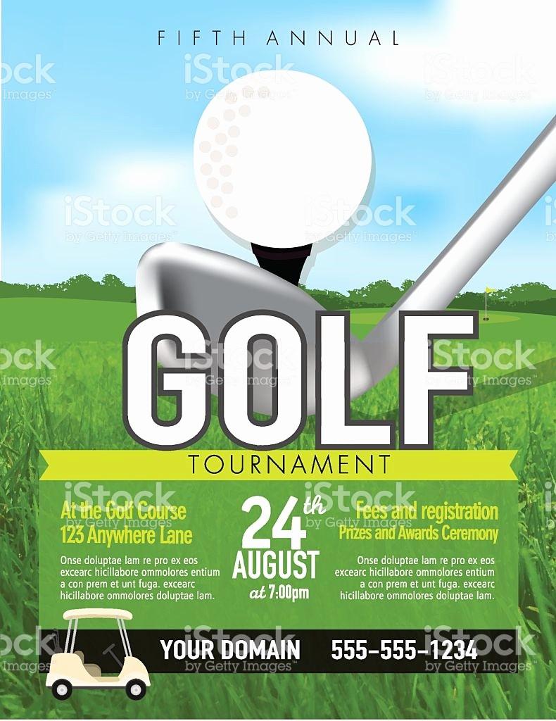 Golf tournament Flyer Template Word Lovely Golf tournament Flyers Template