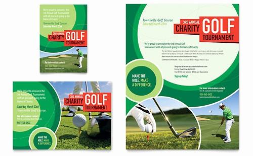 Golf tournament Flyer Template Word Unique Golf tournament Flyer Template Word & Publisher