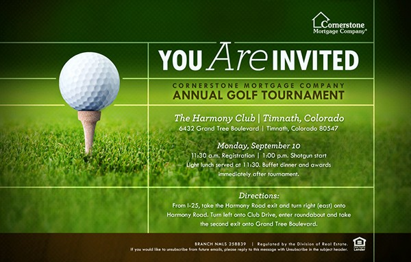 Golf tournament Invitation Template Free Beautiful 2012 Cornerstone Annual Golf tournament Collateral On Behance