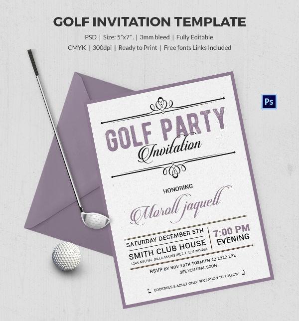 Golf tournament Invitation Template Free Beautiful 25 Fabulous Golf Invitation Templates & Designs