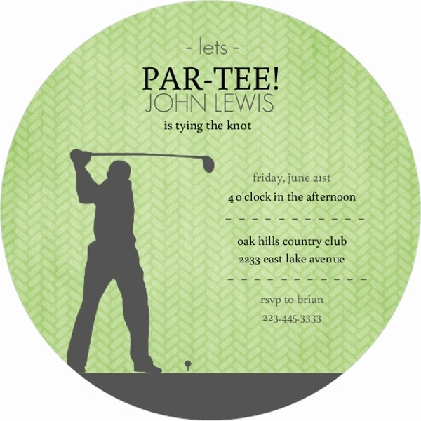 Golf tournament Invitation Template Free Beautiful Green and Grey Golf Bachelor Party Invitation