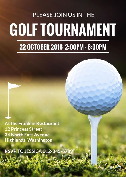 Golf tournament Invitation Template Free Best Of Golf tournament Invitation Template