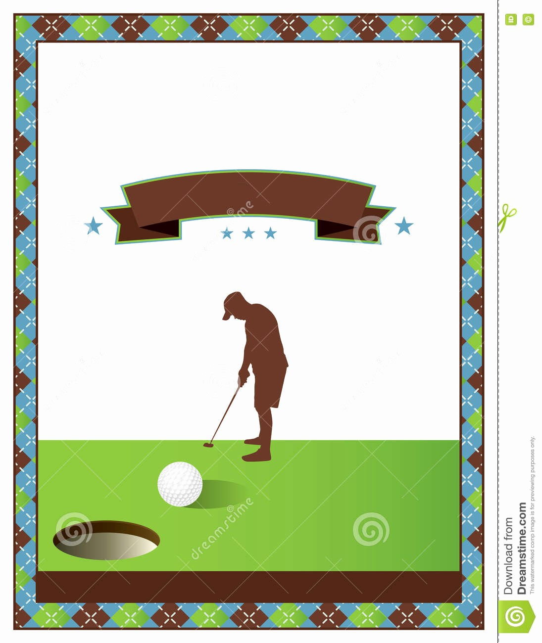 Golf tournament Invitation Template Free Fresh Blank Golf tournament Flyer Template Stock Vector
