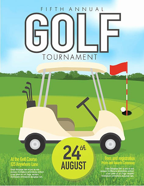 Golf tournament Invitation Template Free Fresh Royalty Free Golf Cart Clip Art Vector