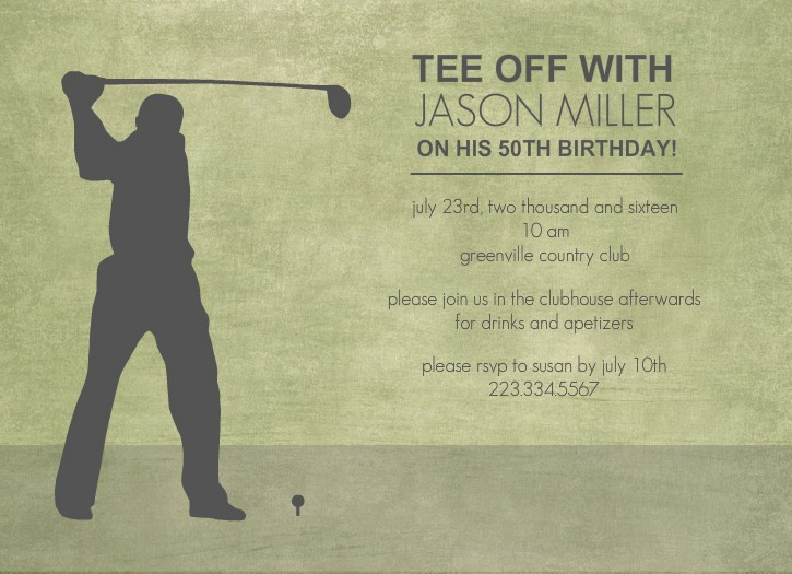Golf tournament Invitation Template Free Inspirational 40th Birthday Ideas Free Golf Birthday Invitation Templates