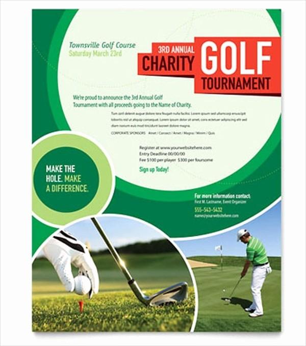 Golf tournament Invitation Template Free Inspirational Golf tournament Flyer Template