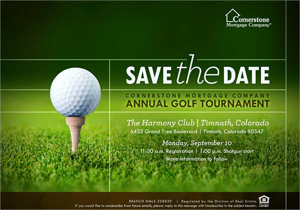 Golf tournament Invitation Template Free Lovely 7 Save the Date event Postcards Psd Ai Eps
