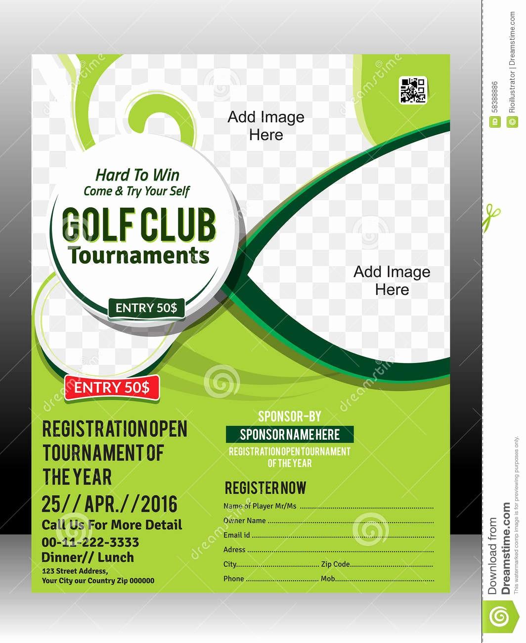 Golf Tournament Invitation Template Free Lovely Golf Scramble Flyer