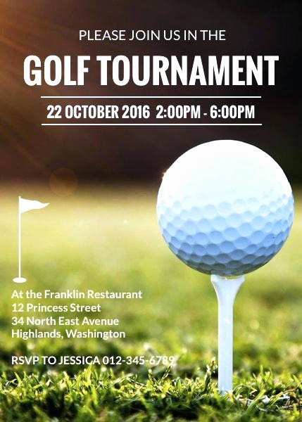 Golf tournament Invitation Template Free Lovely Golf tournament Application Template Entry form Free Flyer