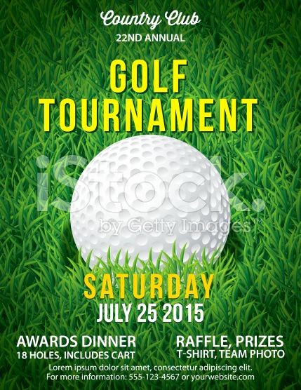 Golf tournament Invitation Template Free Lovely Golf tournament Invitation Flyer with Grass and Ball
