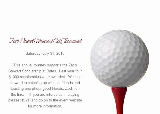Golf tournament Invitation Template Free Lovely Zach Stewart Memorial Golf tournament Line Invitations