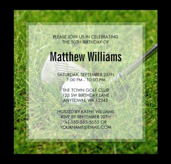 Golf tournament Invitation Template Free Luxury 25 Fabulous Golf Invitation Templates & Designs