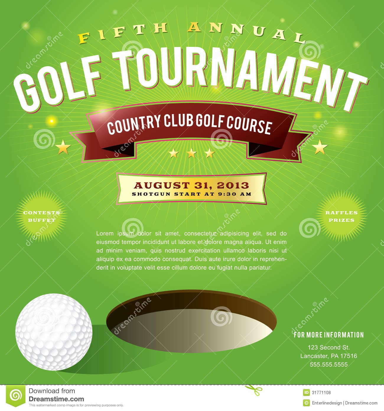 Golf tournament Invitation Template Free Luxury Golf Invitation Templates