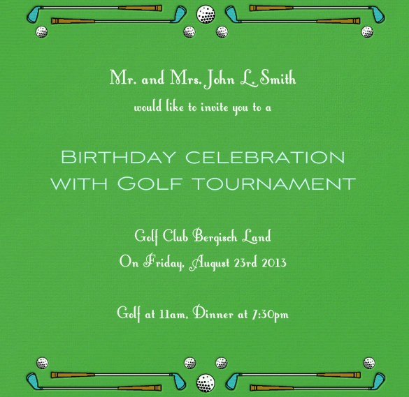Golf tournament Invitation Template Free New 25 Fabulous Golf Invitation Templates & Designs