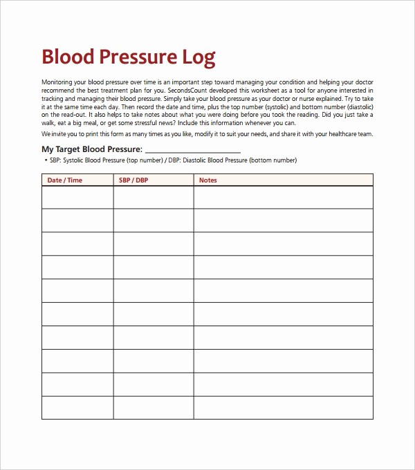 Google Docs Blood Pressure Template Best Of Blood Pressure Log Template – 10 Free Word Excel Pdf