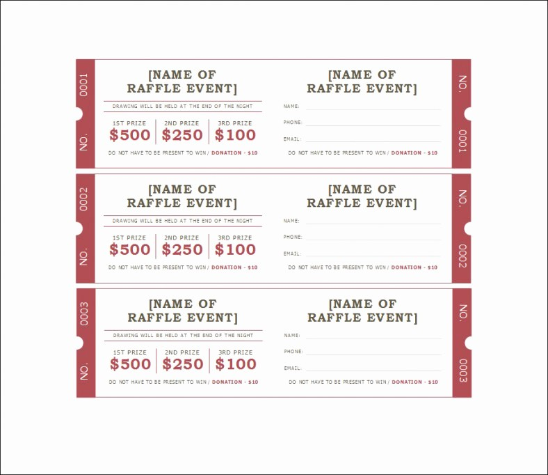 Google Docs event Ticket Template Awesome 18 Sample Printable Raffle Ticket Templates Psd Ai