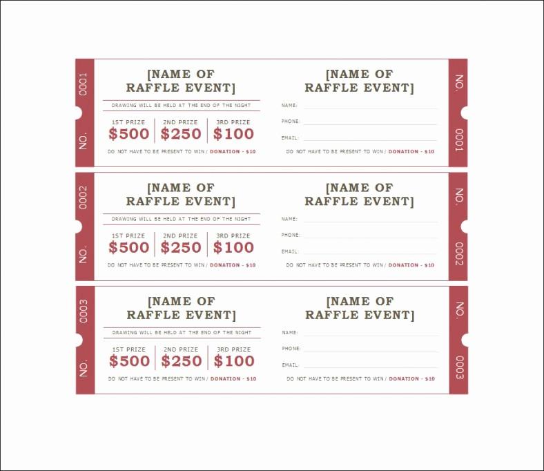 Google Docs event Ticket Template Awesome 18 Sample Printable Raffle Ticket Templates Psd Ai