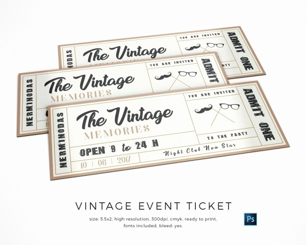 Google Docs event Ticket Template New 13 Best Vintage Ticket Template Davidklinghoffer
