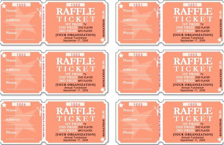 Google Docs event Ticket Template New Raffle Ticket Templates Word Templates Docs