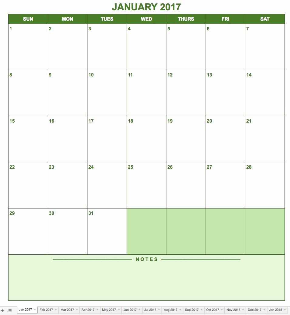 Google Sheets Calendar Template 2019 Awesome Free Google Calendar Templates