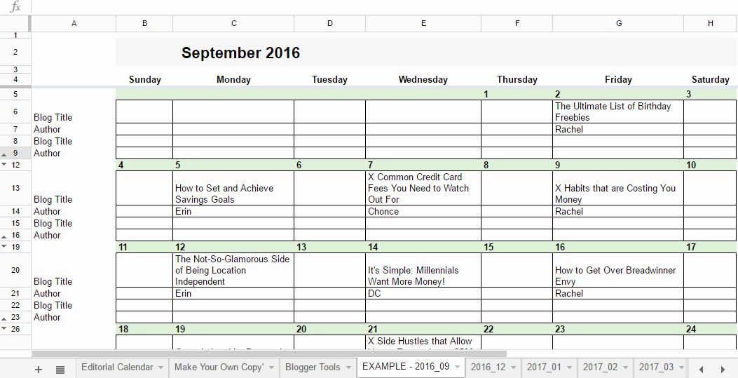 Google Sheets Calendar Template 2019 Unique Free 2019 Editorial Calendar In Google Sheets