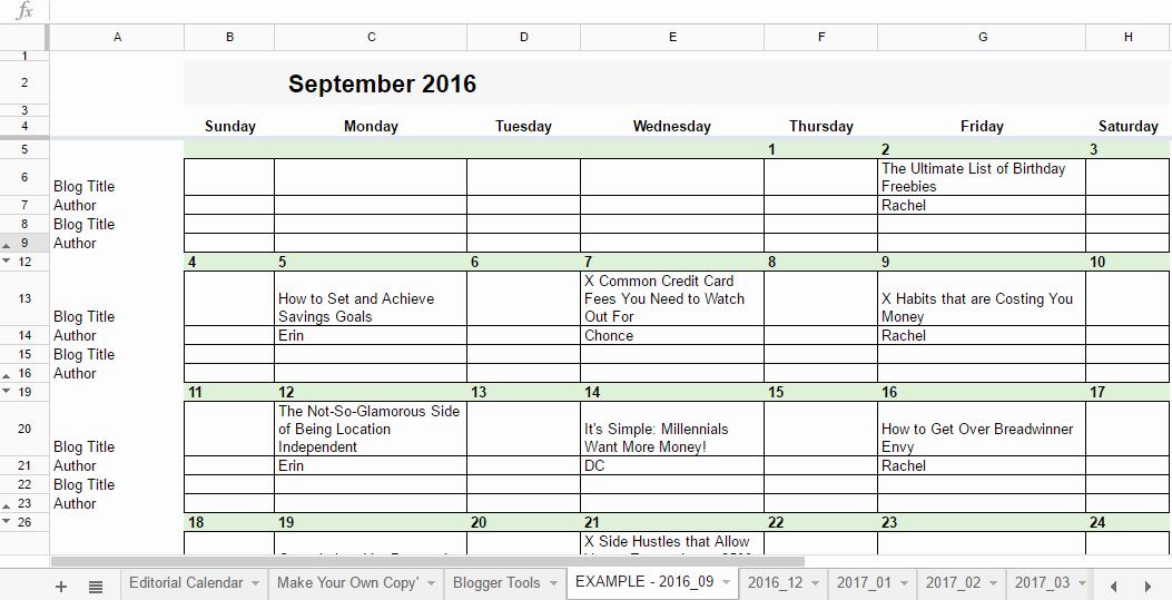 Google Sheets Calendar Template 2019 Unique Free 2019 Editorial Calendar In Google Sheets