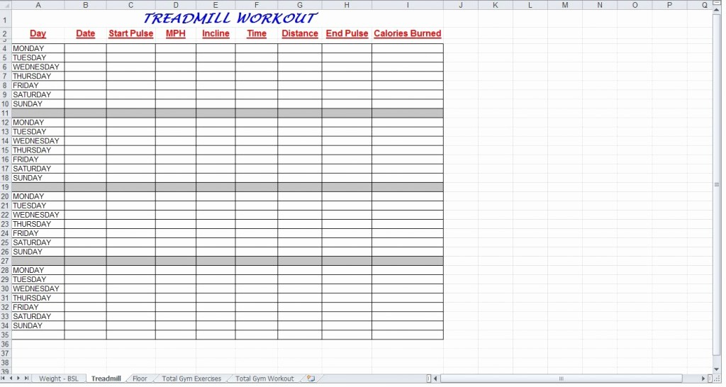 Google Sheets Weight Loss Template Beautiful Workout Spreadsheet Google Docs