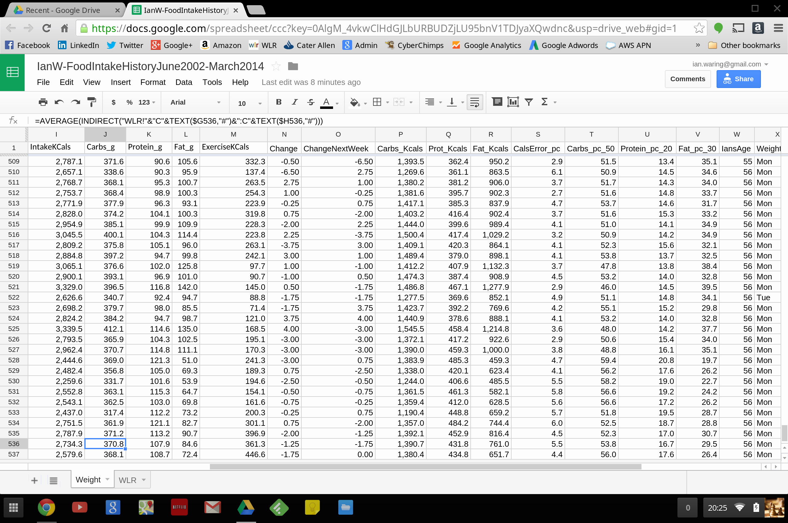 Google Sheets Weight Loss Template Lovely 06 April 2014