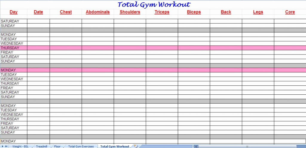 Google Sheets Weight Loss Template Unique Workout Spreadsheet Google Sheets