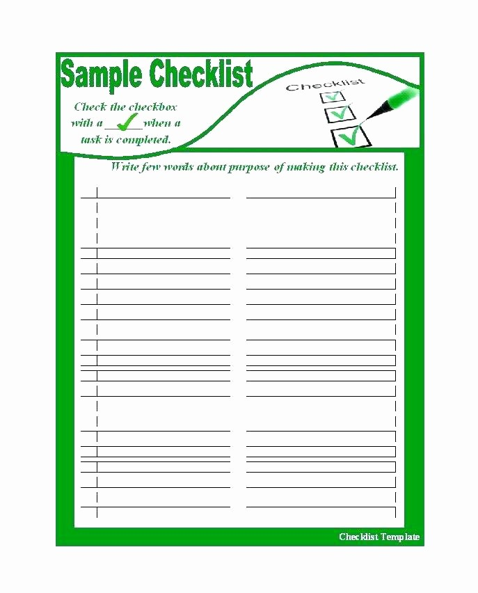 Google to Do List Template Awesome Free Printable Blank Checklist Template – Flybymedia