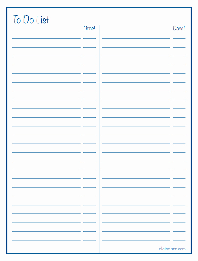 Google to Do List Template Awesome Lined Two Column to Do List Free Printable
