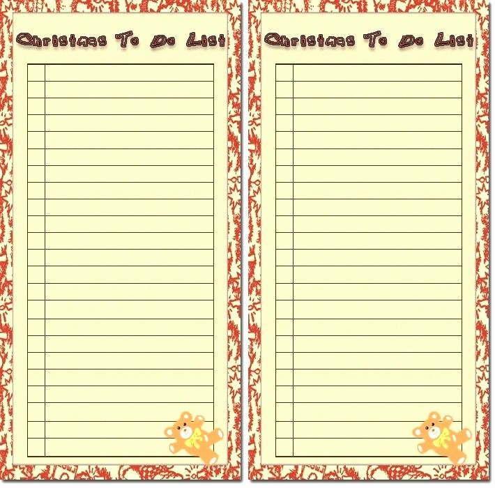 Google to Do List Template New Fun Checklist Template Christmas Card List Excel
