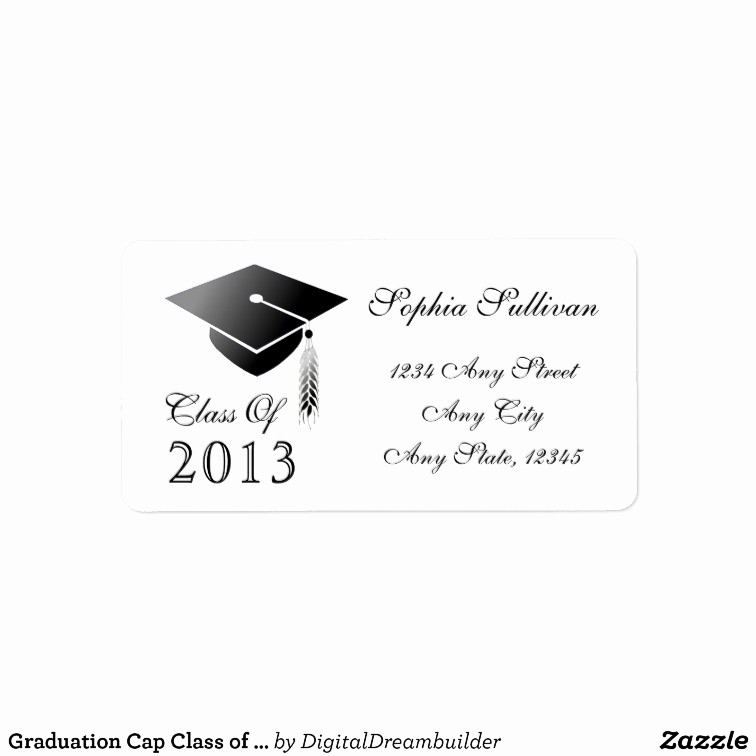 Graduation Address Labels Template Free Best Of Graduation Cap Class Of 2014 Name and Address Label