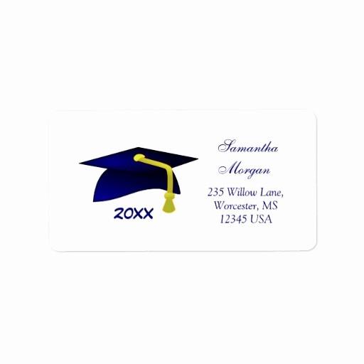 Graduation Address Labels Template Free Best Of Graduation Mortar Address Label