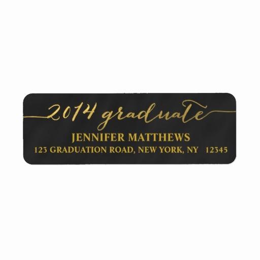 Graduation Address Labels Template Free Best Of Graduation Return Address Labels & Templates