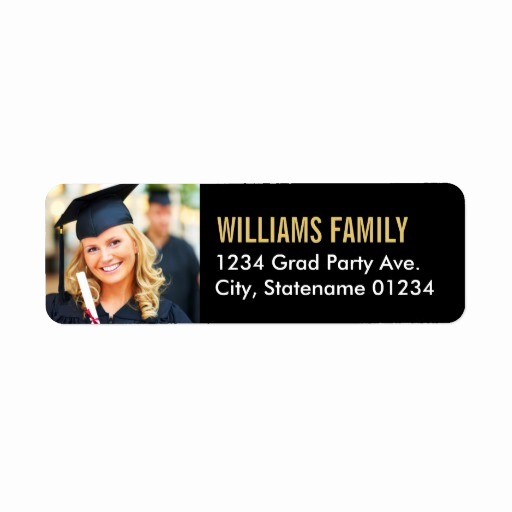 Graduation Address Labels Template Free Elegant Address Labels Graduation Return Address Labels