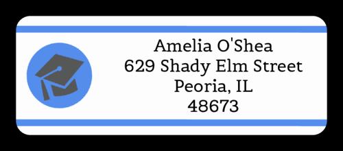 Graduation Address Labels Template Free Elegant Pre Designed Label Templates Create Personalized Labels