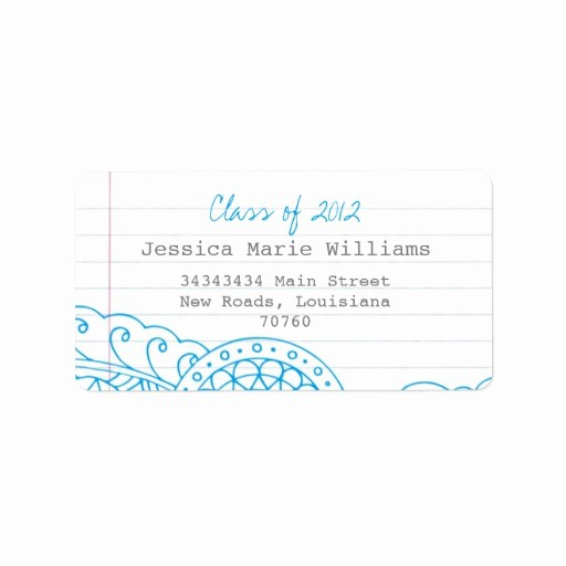 Graduation Address Labels Template Free Fresh Graduation Personalized Address Labels