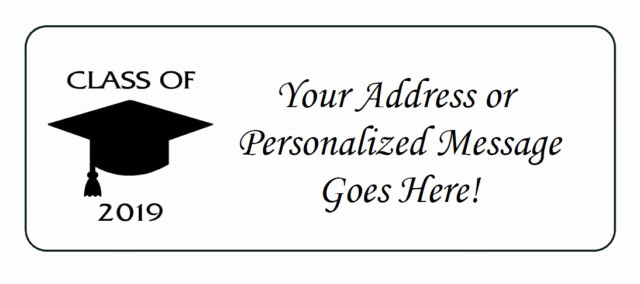 Graduation Address Labels Template Free Luxury Personalized Return Address Labels Stunningslovakia