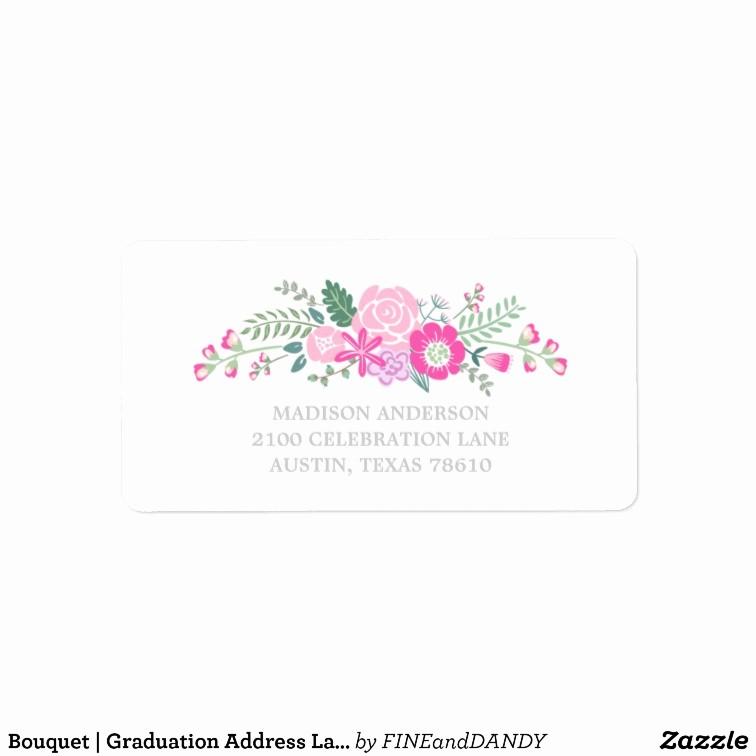 Graduation Address Labels Template Free New Bouquet Graduation Address Label