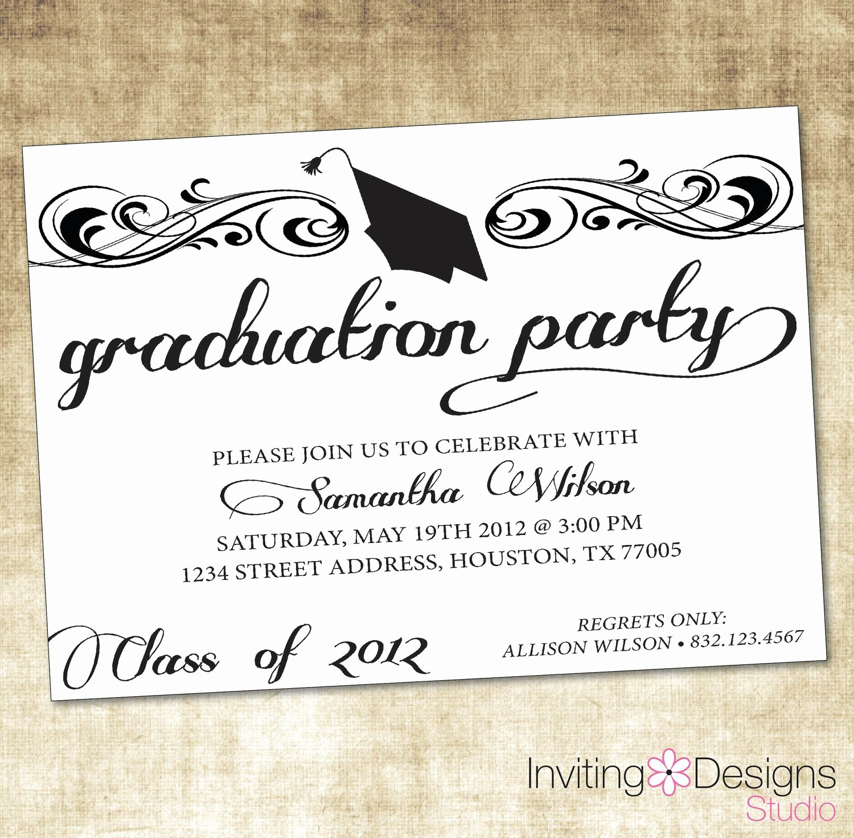Graduation Party Invitation Template Word Awesome Free Graduation Invitation Templates Free Graduation