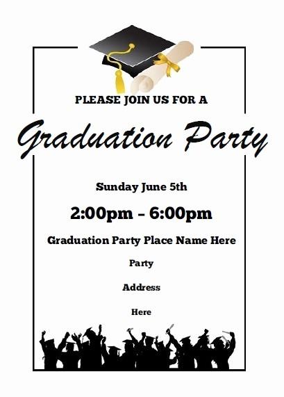 Graduation Party Invitation Template Word Awesome Graduation Party Invitations Free Printable