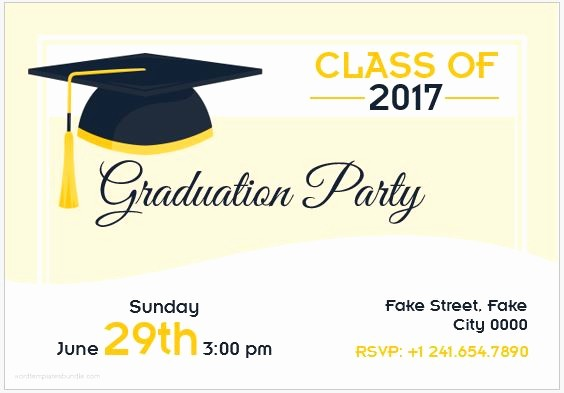 Graduation Party Invitation Template Word Beautiful 10 Best Graduation Party Invitation Card Templates Ms Word