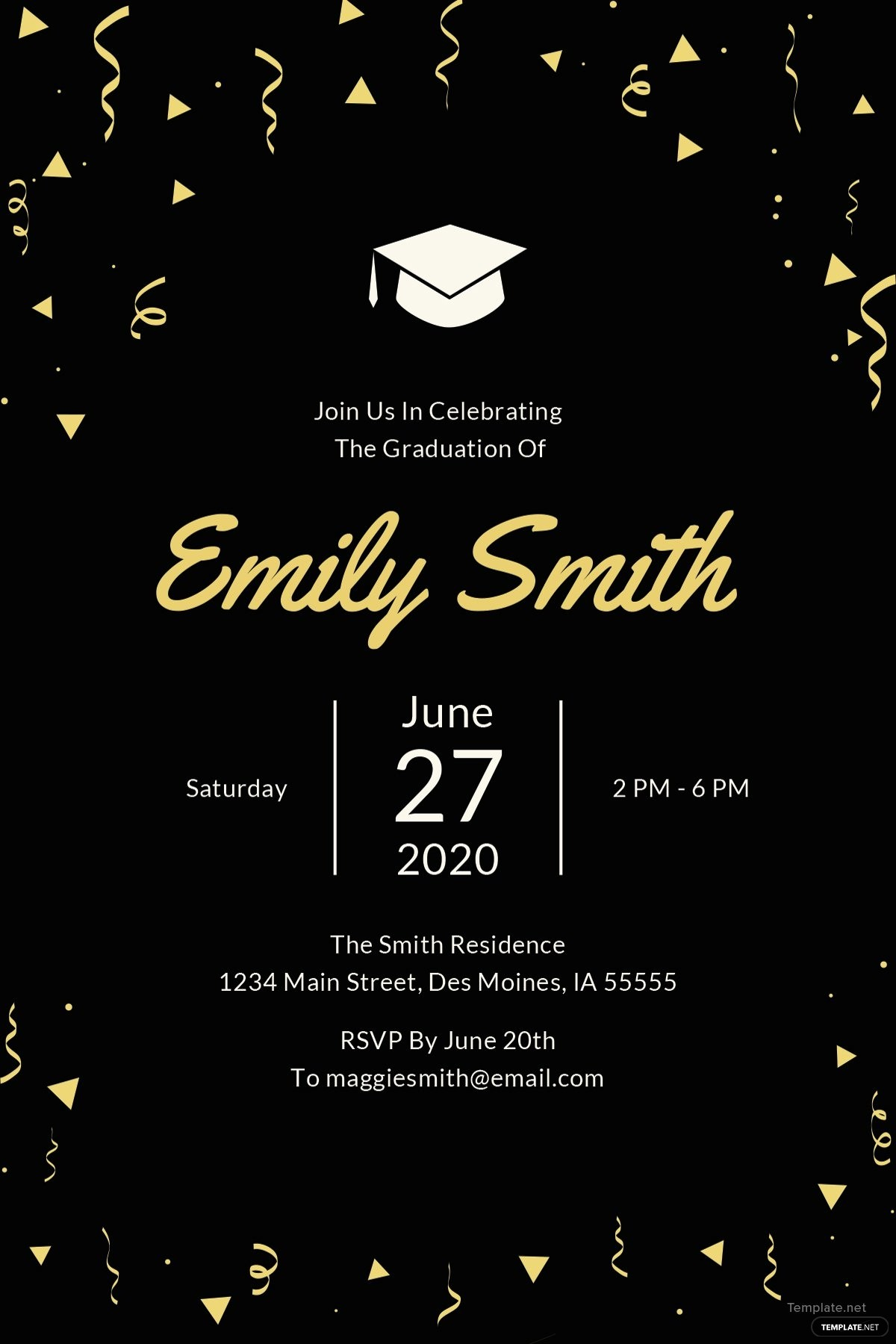 Graduation Party Invitation Template Word Beautiful Free Graduation Invitation Template In Microsoft Word