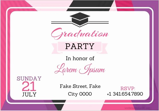 Graduation Party Invitation Template Word Best Of 10 Best Graduation Party Invitation Card Templates Ms Word