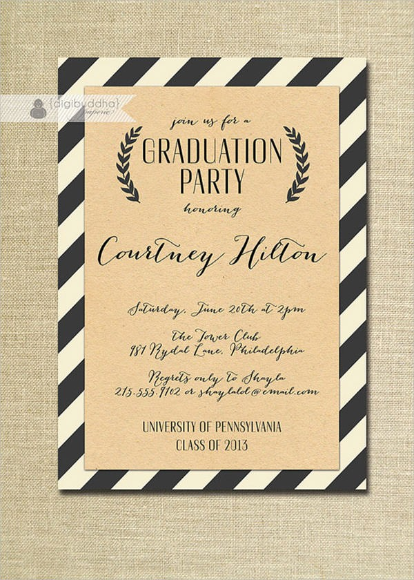 Graduation Party Invitation Template Word Best Of 7 Graduation Invitation Templates